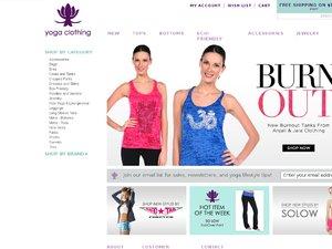 Yoga-Clothing.com website