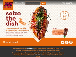 Yo Sushi website