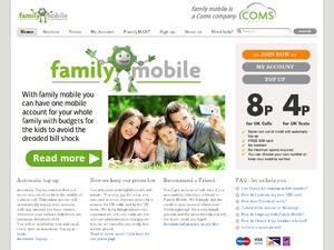Family Mobile website