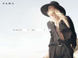 Zara website
